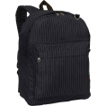 PacificPlex Backpacks -  Back to School Pinstriped Black Backpack School Bag Black