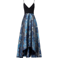 sandra  - Badgley Mischka Blue Floral Gown - 连衣裙 -
