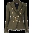 Aurora  - Balmain Khaki Jacket - Jacket - coats -