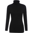 MoonStone - Black High Neck Long Sleeve Sl - Cardigan -