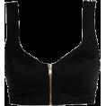 nanawidia - Black Zip Front Bralette - Tanks -