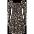 Aurora  - Black Floral Dress - Dresses -