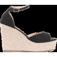 svijetlana2 - Black Peep Toe Wedges With Ankle Strap - Plataformas - $34.00  ~ 29.20€