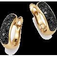 Qiou - Bloomingdale's Black Diamond Huggie Earr - Uhani -
