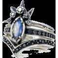 BlueKnight - Blue Star Moon Band Set Rings  - Rings -