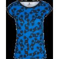 PINaR ERIS - Blue Black All Over Dancing Print Tee - Magliette - $42.00  ~ 36.07€