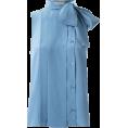 Bev Martin - Blue Bow Tie Blouse - Camisa - curtas -