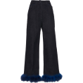 Georgine Dagher - Blumarine Straight Leg Feather Trim Jean - Jeans -