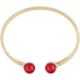 Ariel  - Bracelet, Gold and Red Bracelet, Gold,  - Bracelets - $1,065.00