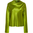 glamoura - Brandon Maxwell Cowl Neck Satin Blouse - Košulje - duge - $3,295.00  ~ 2,830.03€