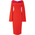 beautifulplace - Brandon Maxwell Moon Neck Flare Sleeve D - Dresses -