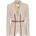 JelNik - Burberry Leather-trimmed wool blazer - Jacket - coats -