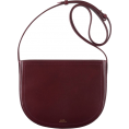 Aurora  - Burgundy Saddle Bag - Messenger bags -