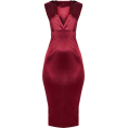 Mees Malanaphy - Burgundy stretch satin midi dress - Dresses -