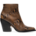 Georgine Dagher - CHLOÉ brown and black rylee 80 snakeskin - Boots -