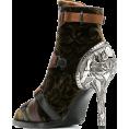 JecaKNS - CHLOÉ velvet stiletto ankle boots - Škornji -