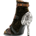 JecaKNS - CHLOÉ velvet stiletto ankle boots - Botas -