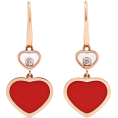 Evelin  - CHOPARD Happy Hearts 18-karat rose gold - Uhani -