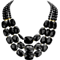 Mary Cheffer - CHUNKY LAYERED BLACK STATEMENT NECKLACE - Necklaces - $19.00