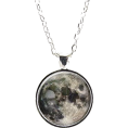 haikuandkysses - Full Moon Necklace, Astronomy - Necklaces -