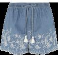 Rocksi - Chambray Embroidered Shorts - Shorts - $12.50