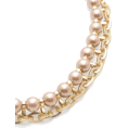 Mary Cheffer - Champagne Pearl Bib Necklace Zenzii  - Necklaces - $43.00