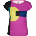 PINaR ERIS - Chunky Geometric Print Fitted Tee - T-shirts - $46.00