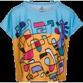 PINaR ERIS - Colorful Abstract Print Boxy T-Shirt - T-shirts - $46.00