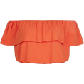 Anna Frost - Crop top orange - Camisas sem manga -