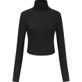 FECLOTHING - Cross strap backless long sleeve knit t- - Shirts - $25.99