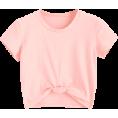 ZAFUL - Cute Twist Tied Top - Pink - T-shirts - $14.49