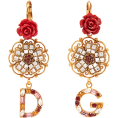 beautifulplace - DOLCE & GABBANA  Crystal-embellished flo - Серьги -