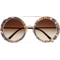 vespagirl - DOLCE & GABBANA Round-frame printed acet - Occhiali da sole - $590.00  ~ 445.52€