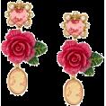 glamoura - DOLCE & GABBANA cameo crystal rose drop - Uhani -
