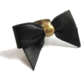 Danijela ♥´´¯`•.¸¸.Ƹ̴Ӂ̴Ʒ - gold & black leather ring - Rings -