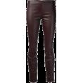 Jay Han - Dark Brown Faux Leather Pants - Jeans -