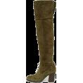 lence59 - Dark Olive Split Suede - Boots -