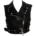 Denise  - Leather Biker Vest - Vests -