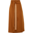 beautifulplace - Deveaux High-Waisted Belted Wool Wrap Sk - Skirts -
