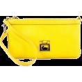 Amazon.com - Dooney & Bourke Dillon 2 Large Slim Wristlet Sunflower Yellow Leather - Сумочки - $69.99  ~ 60.11€