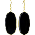 mmpherson   - Earrings Black Stone  - Earrings - $11.00