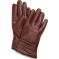 Amazon.com - Echo Design Women's Leather Pleated Cuff Glove with Cashmere Blend Coffee - Gloves - $16.34