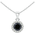 Angara Inc.  - Enhanced Black Diamond Pendant - Colares - $739.00  ~ 634.72€
