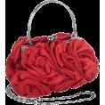 MG Collection - Enormous Rosette Roses Framed Clasp Evening Handbag Clutch Purse Convertible Bag w/Hidden Handle, Shoulder Chain Red - Bolsas com uma fivela - $39.99  ~ 34.35€