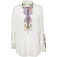 vespagirl - Etro Etro Paisley Print Sheer Blouse - Long sleeves shirts - $338.11