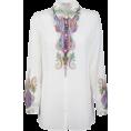 vespagirl - Etro Etro Paisley Print Sheer Blouse - Long sleeves shirts - $338.11