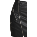 Colton French Crazy Zany Fake - Express Buckled Leather Skirt - Skirts -