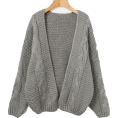 FECLOTHING - Fashion knit sweater cardigan - Cardigan - $45.99