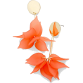 Mary Cheffer - Feminine floral drop earrings - Orange - Earrings - $23.00