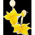 Mary Cheffer - Feminine Floral Drop Earrings-Yel - Earrings - $23.00